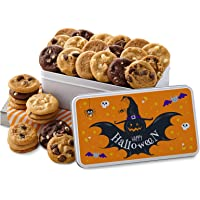 Mrs. Fields Cookies Happy Halloween 30 Nibblers Bite-Sized Cookie Tin Includes 5 Different Flavors