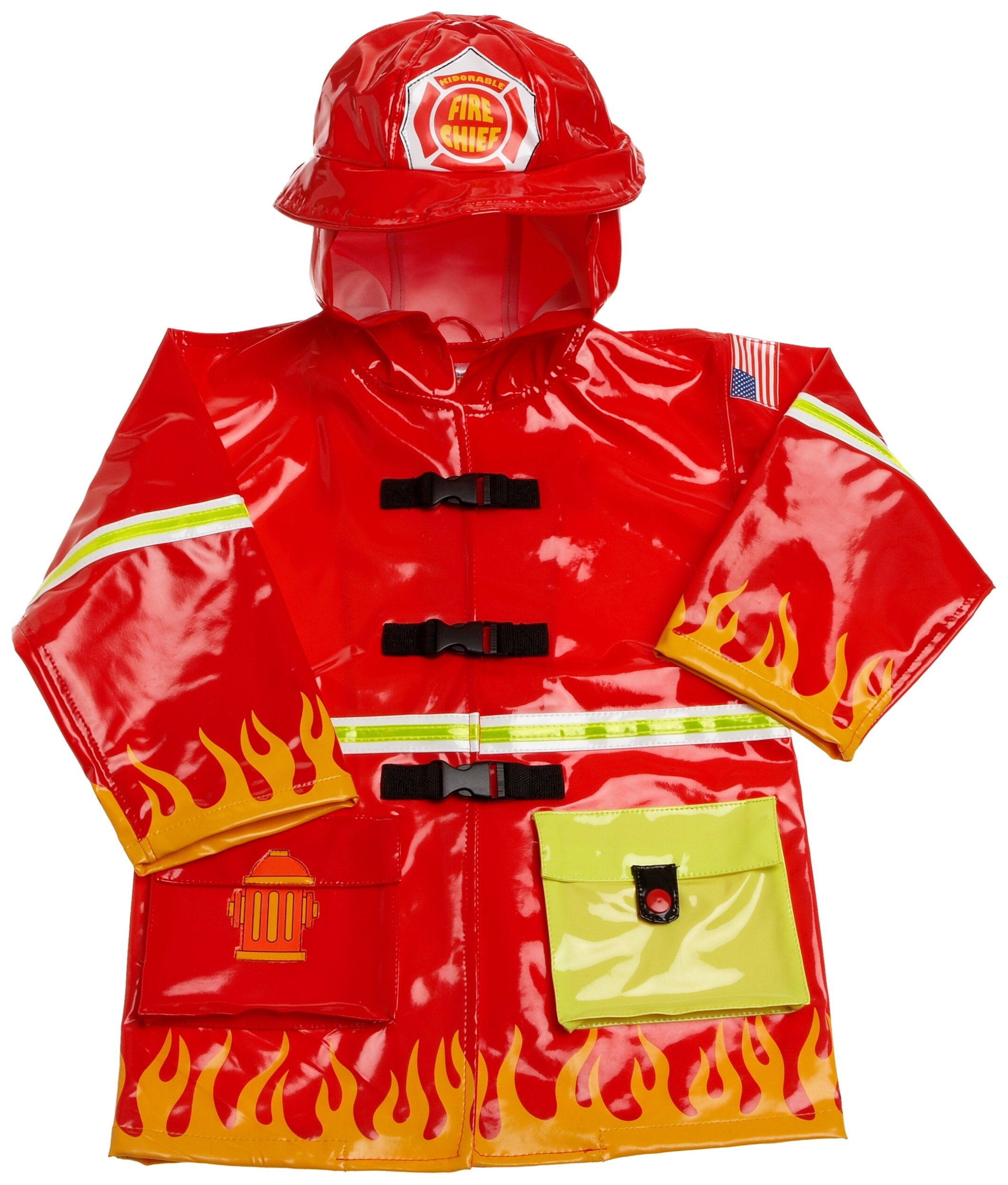 Kidorable Fireman Raincoat, Red, 12 18M by Kidorable