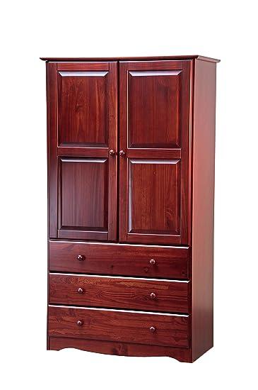 Delicieux 100% Solid Wood 40u0026quot; Combo Wardrobe/Armoire/Closet/