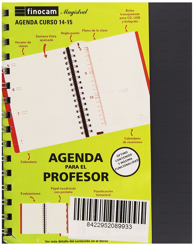 Finocam CA532715315 - Agenda magistral profesor (semana ...