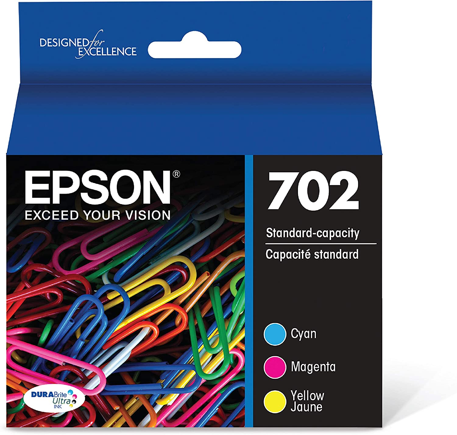 Epson T702520-S DURABrite Ultra Color Combo Pack Standard Capacity Cartridge Ink