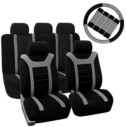 Amazon.com: FH Group FH-FB070115+FH2033 Sports Fabric Car Seat ...