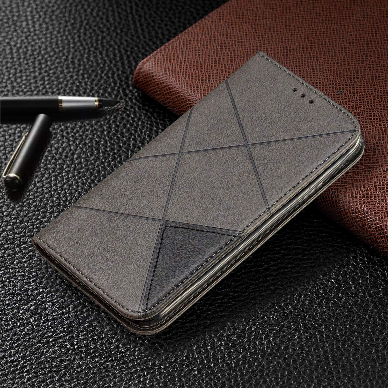 LOBFE160275 Gris Lomogo Coque iPhone 11 Portefeuille Housse en Cuir avec Porte Carte Fermeture par Rabat Aimant/é Antichoc /Étui Case pour Apple iPhone 11 2019