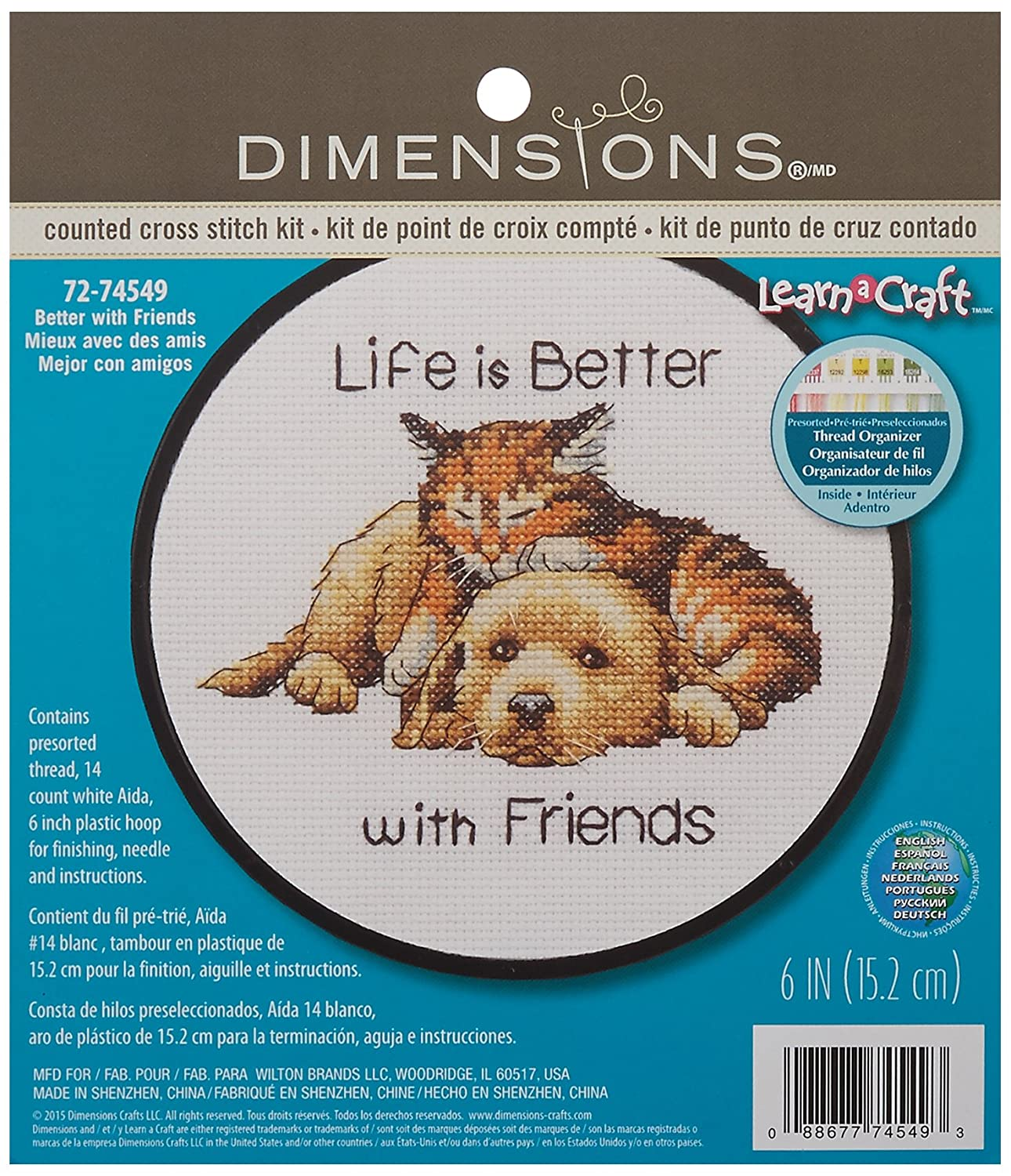 Dimensions Better with Friends Counted Cross Stitch Kit, 72-74549 IDEAL DESIGN ENTERPRISES CO. LTD
