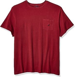 08c64b4c4890 Nautica Men's Big and Tall Solid Crew Neck Short Sleeve Pocket T-Shirt