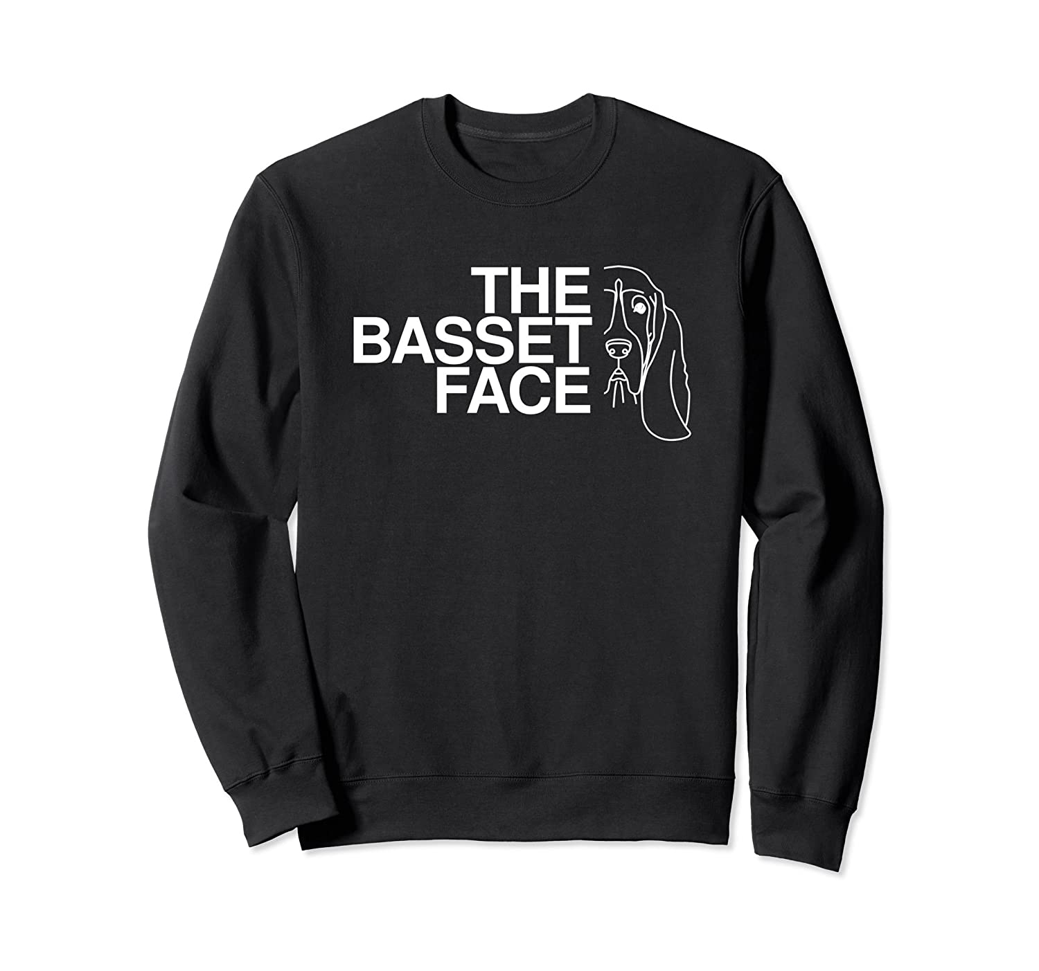 The Basset Face Sweatshirt  Basset Hound Sweatshirt-Awarplus