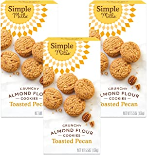 product image for Simple Mills Almond Flour Toasted Pecan Cookies, Gluten Free and Delicious Crunchy Cookies, Organic Coconut Oil, Good for Snacks, Made with whole foods, 3 Count (Packaging May Vary)