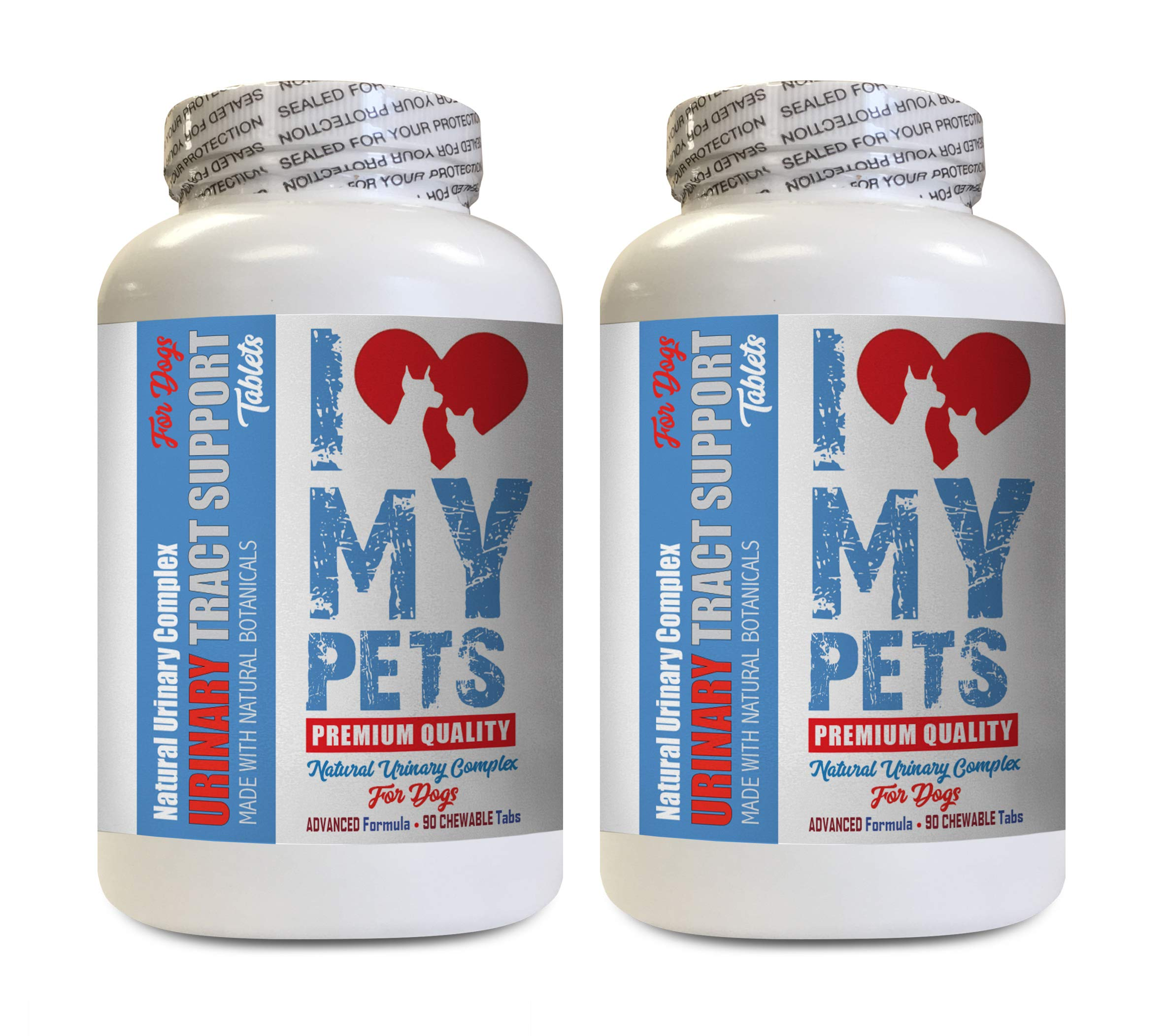 I LOVE MY PETS LLC Urinary Tract Support for Dogs - Dog Urinary Tract Support - UTI Relief Complex - Quality - Dog Urinary Supplement - 180 Treats (2 Bottles)