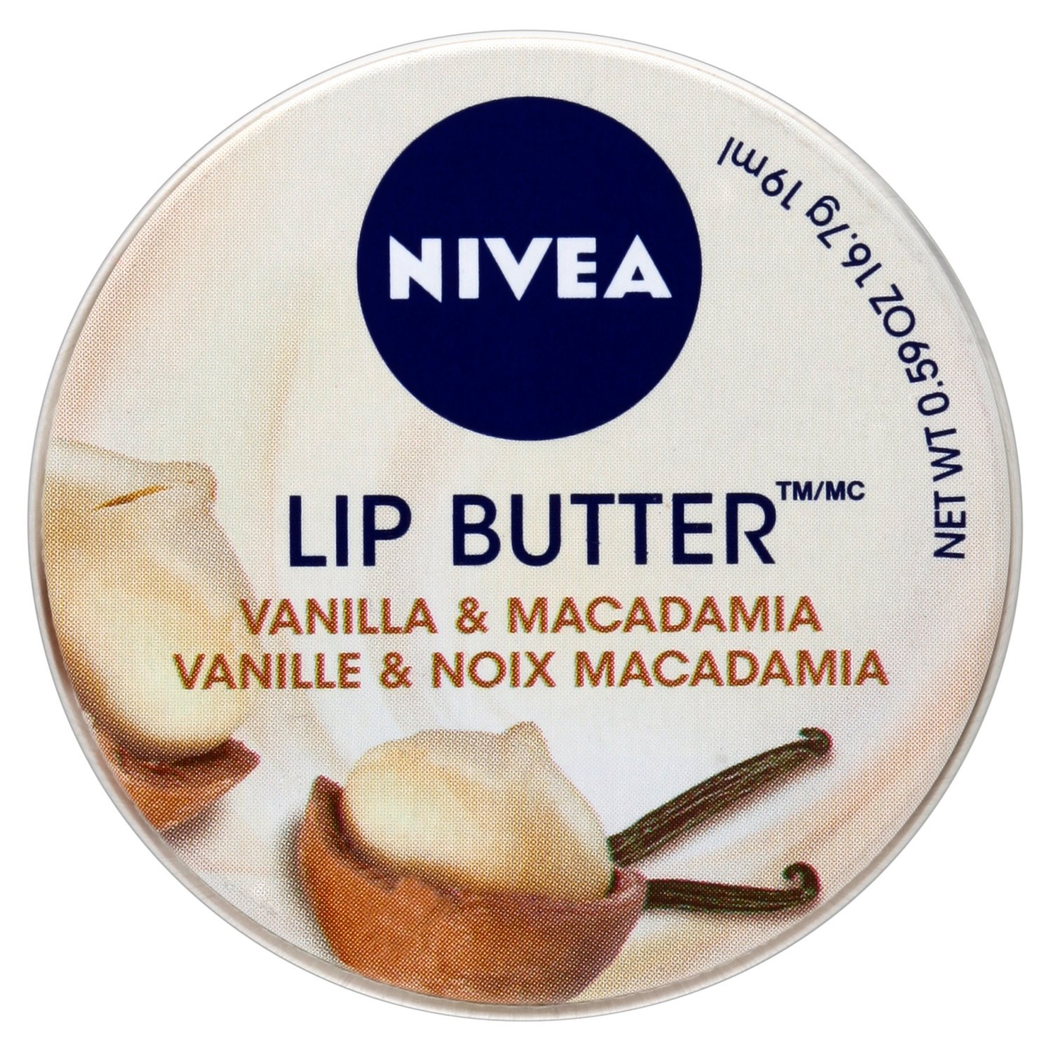 NIVEA Lip Butter Balm, Vanilla and Macadamia, 19 ml, Pack of 6 Beiersdorf UK Ltd 85264-04524-34
