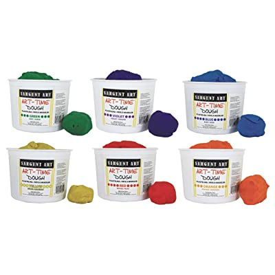 Sargent Art 6 Color Dough Set, 3 Pounds Each, Art-Time Artist Dough, 18-Pound Assortment: Home & Kitchen