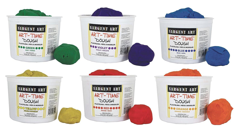 Sargent Art 6 Color Dough Set, 3 Pounds Each, Art-Time Artist Dough, 18-Pound Assortment 85-3399