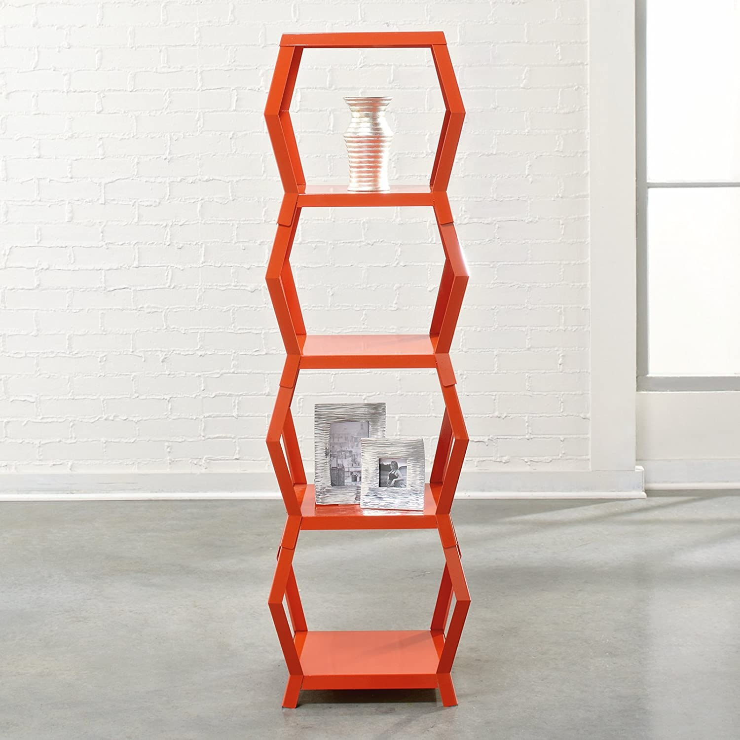 amazoncom sauder soft modern tower etagere and bookcase orange  - amazoncom sauder soft modern tower etagere and bookcase orange blushkitchen  dining