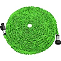 soled Expandable Garden Hose, 25ft Strongest Expanding Garden Hose on The Market with Triple Layer Latex Core & Latest Improved Extra Strength Fabric Protection for All Your Watering Needs(Green)