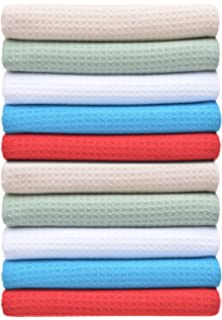 Sinland Microfiber Waffle Weave Kitchen Towels Dish Drying Towels 16 Inch X  24 Inch 10 Pack