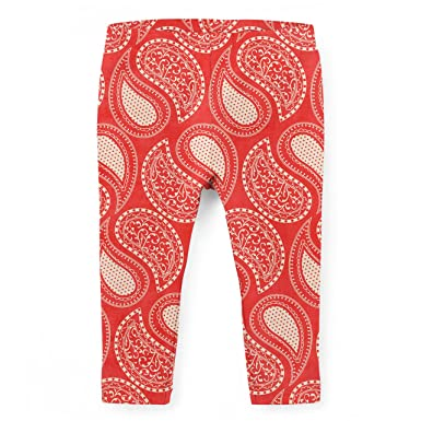 a0a181cf295aa Amazon.com: Paisley In Red Kids Leggings: Clothing