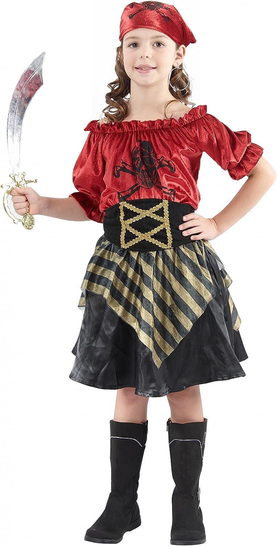 Disfraz pirata rebelde niña 10-12 años (140/152): Amazon.es ...