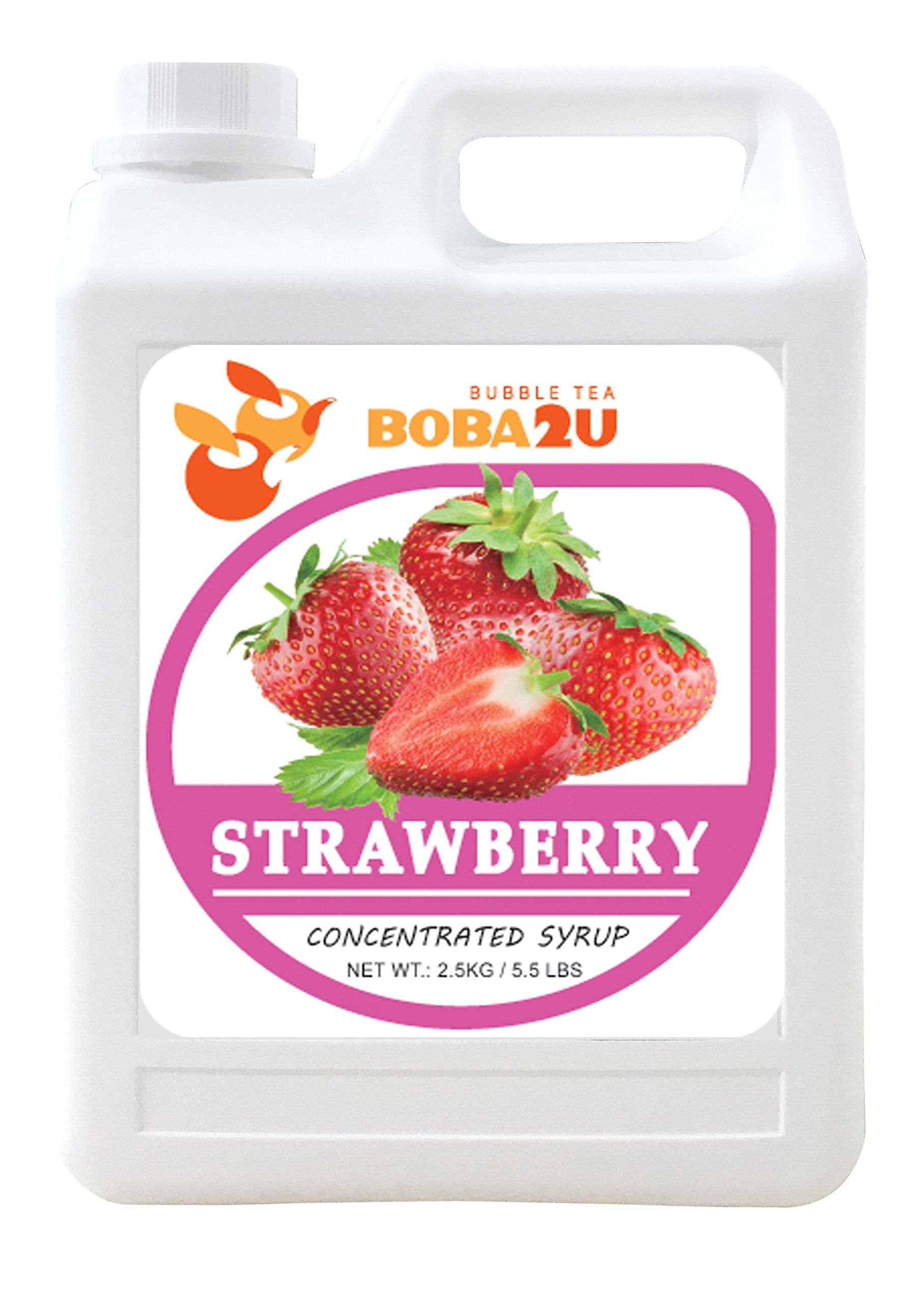 BOBA2U CONCENTRATED SYRUP STRAWBERRY 5.5 LBS