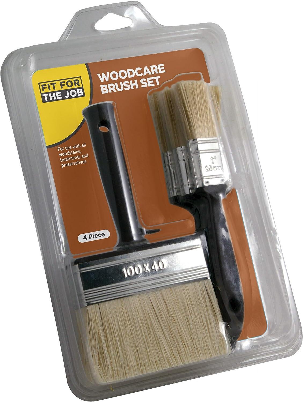 FFJ Woodcare Brush Set 4 Pieces