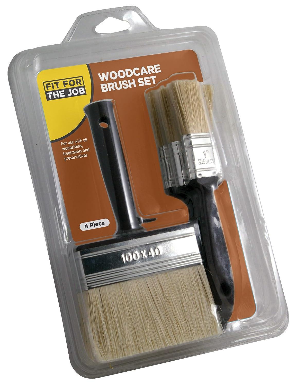 FFJ - Set di 4 pennelli per legno