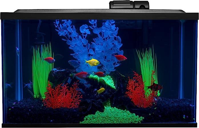 Amazon Com Glofish 10 Gallon Aquarium Fish Tank Kits Includes Led Lighting And Decor Amazon Exclusive Pet Supplies