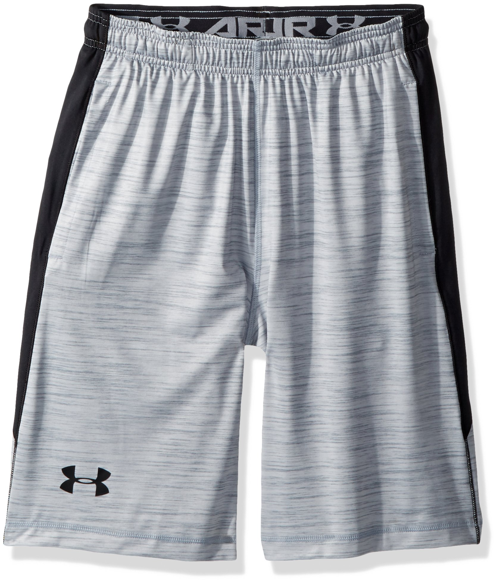 Under Armour Men's Raid Printed 10'' Shorts, Overcast Gray (942)/Black, Large by Under Armour