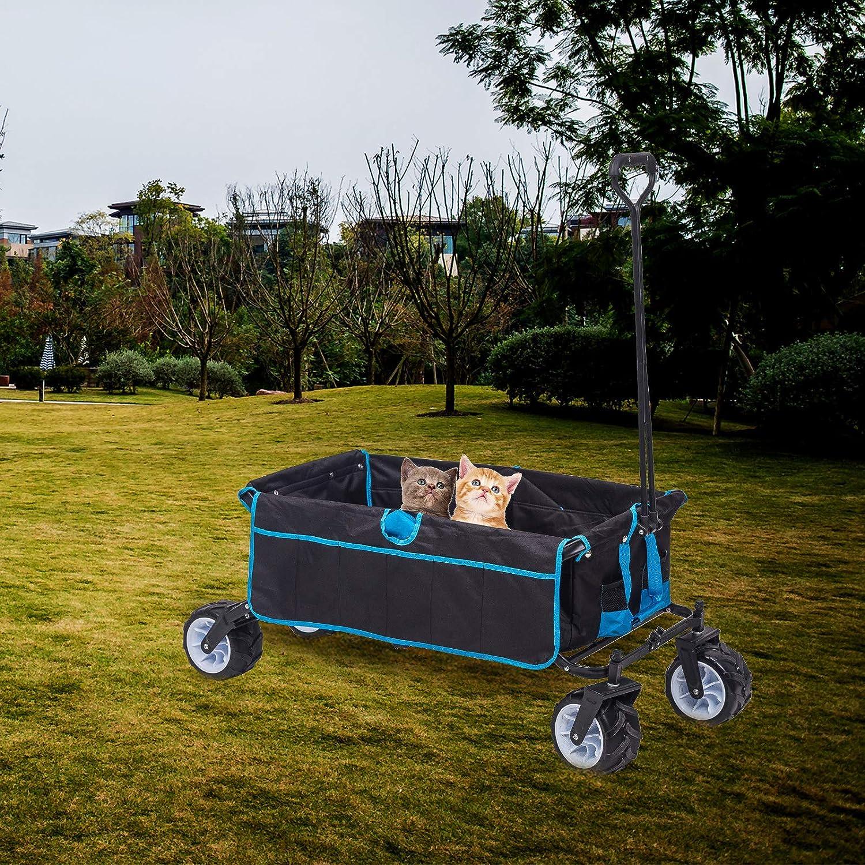 WOLTU Bollerwagen faltbar Handwagen Strandwagen mit 4 Rollen f/ür den Garten Camping 80 kg belastbar TW001ant