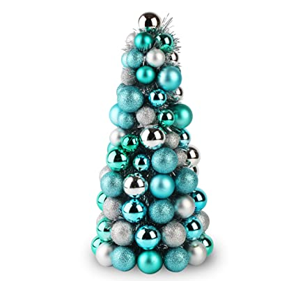 jusdreen christmas ball ornaments tree shatterproof christmas decorations tree balls - Aqua Christmas Decorations