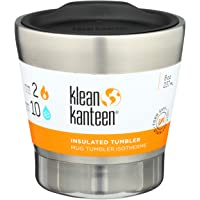 Klean Kanteen Vacuum Insulated Tumbler with Lid, Brushed Stainless, One Size/8oz