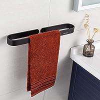 Handdoekenrek zonder boren, handdoekhouders voor badkamers, aluminium handdoekenrek met zelfklevende sticker, matte…