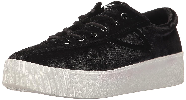 Tretorn Women's NYLITE4BOLD Sneaker B06XY2RMK7 9.5 B(M) US|Black Crushed Velvet