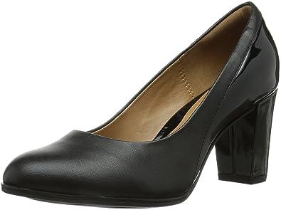 Marques Chaussure femme Clarks femme Basil Auburn Black combi lea