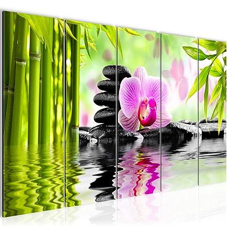 Bilder Orchidee Feng Shui Wandbild 200 x 80 cm Vlies - Leinwand Bild ...