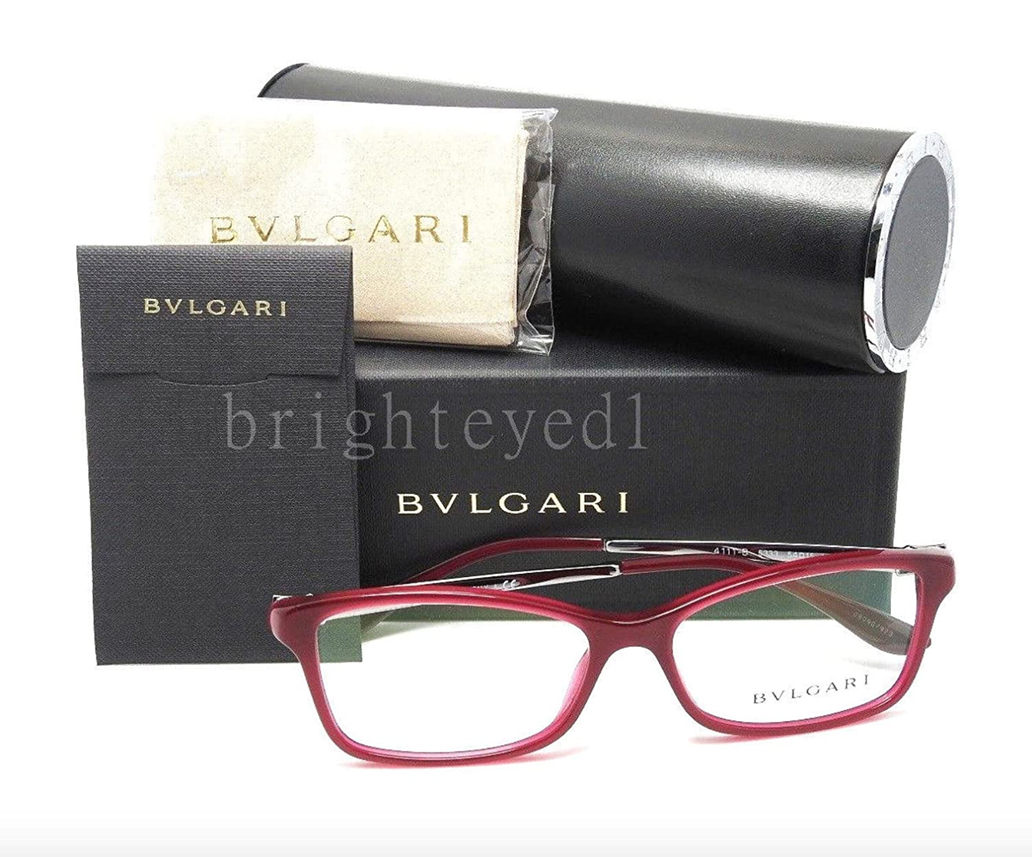 Bvlgari BV 4111B 5333 Eyeglasses TRANSPARENT RED 54mm