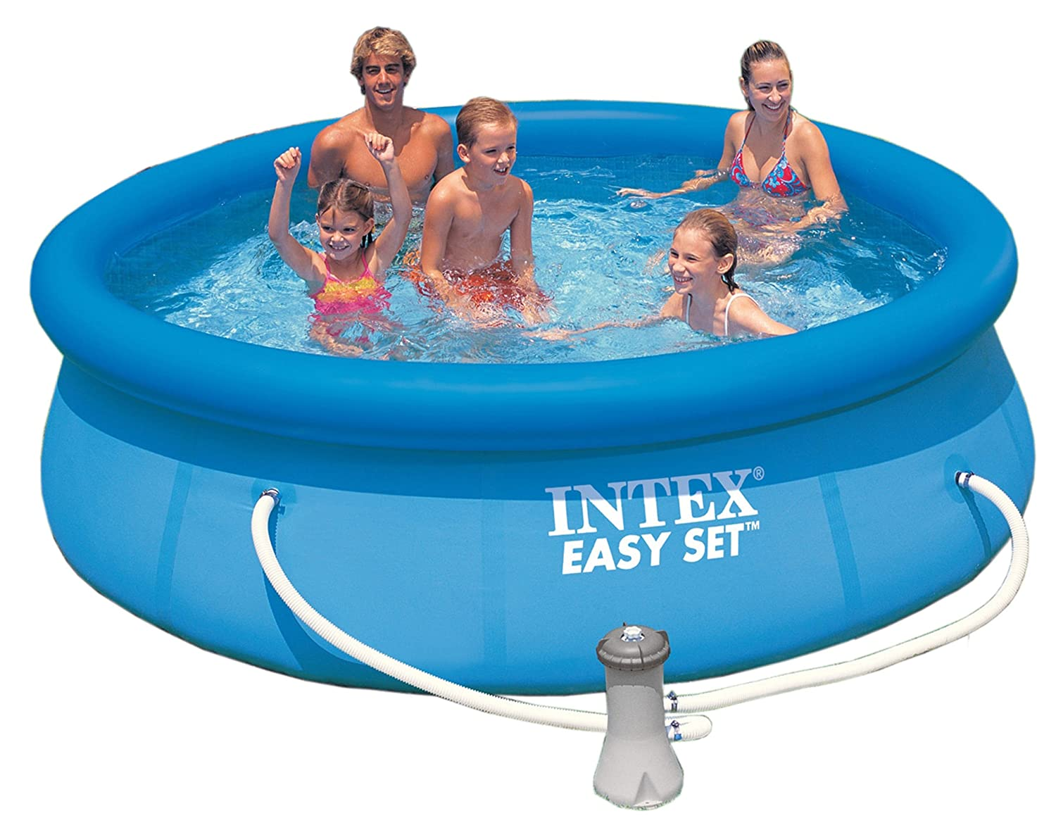 INTEX Easy-Set Pool, 305 x 76 cm / Filterpumpe 12 Volt / TÜV/GS