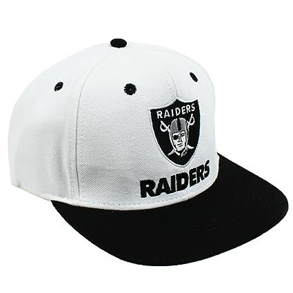 Reebok Retro LA Los Angeles Raiders Snapback Hat Cap - Gorra para hombre color blanco