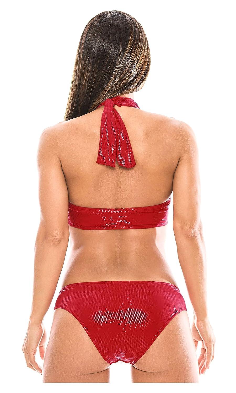Amazon.com: Babalu Fashion Women Halter Bikini Swimsuit Set 13764 Trajes de Baño para Damas: Clothing