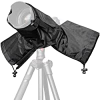 Selighting Rain Cover Camera Protector Foldable for Canon Nikon and SLR Cameras with Short or Long Lens (Black)