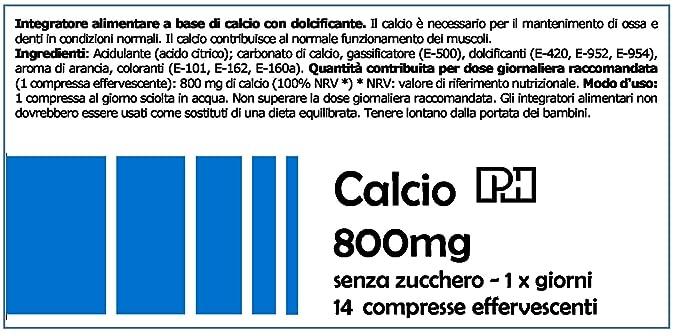 CALCIO PH 800 mg 14 comprimidos efervescentes sabor NARANJA, para mantener los huesos fuertes y sanos: Amazon.es: Salud y cuidado personal