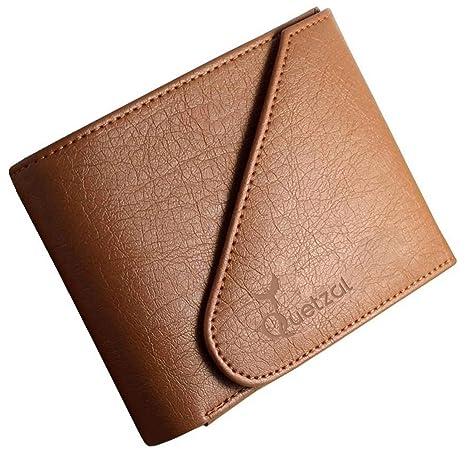 Quetzal Men's Leather Wallet  Tan  Wallets
