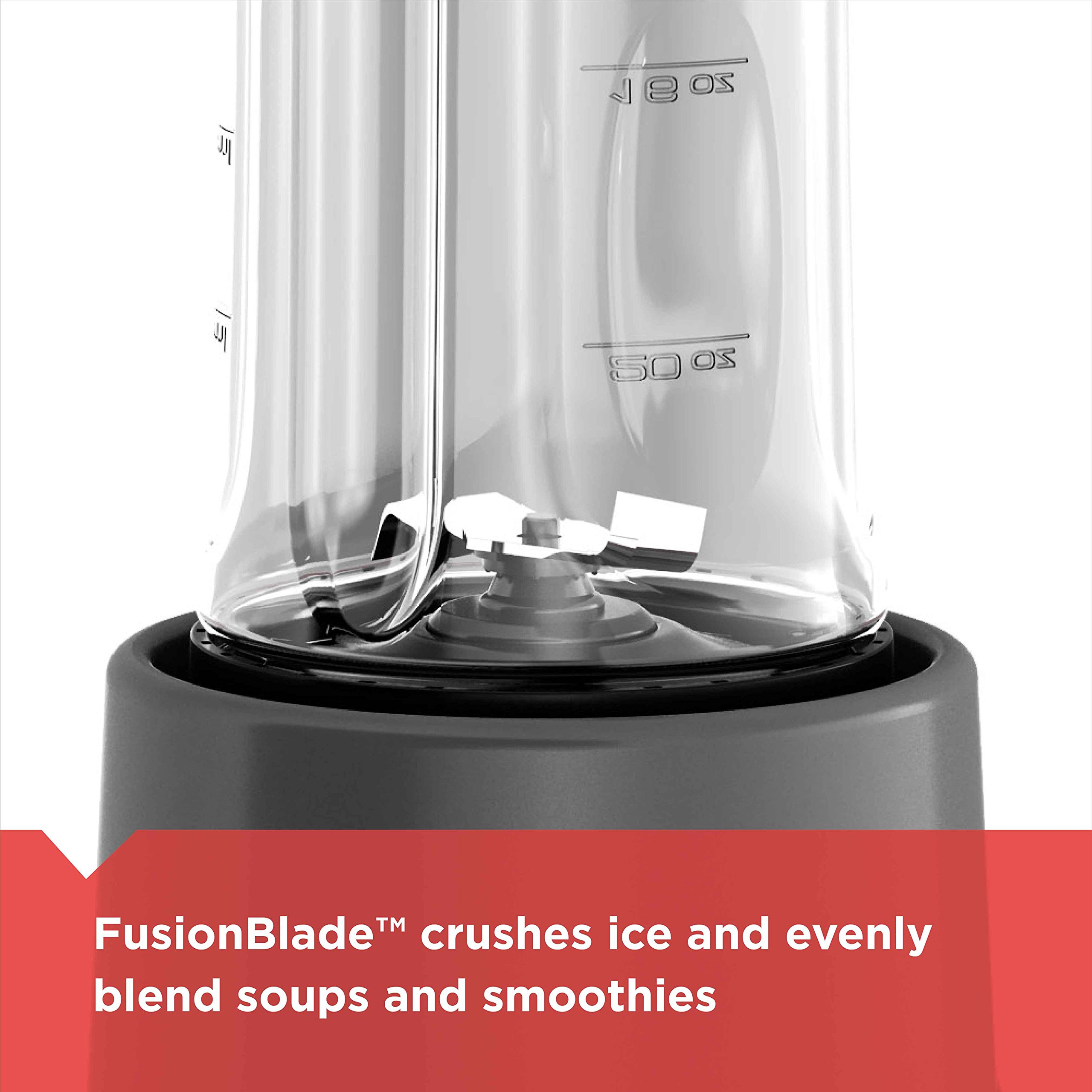 BLACK+DECKER FusionBlade Personal Blender with Two 20oz Personal Blending Jars, Gray, PB1002G by BLACK+DECKER (Image #3)