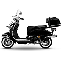 Retro Roller Easy Cruiser Chrom 50 ccm schwarz Motorroller Scooter Moped Mofa Easycruiser