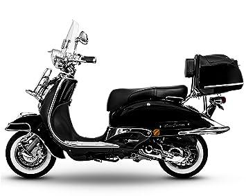 Retro Roller Easy Cruiser Chrom 50 Ccm Schwarz Motorroller Scooter