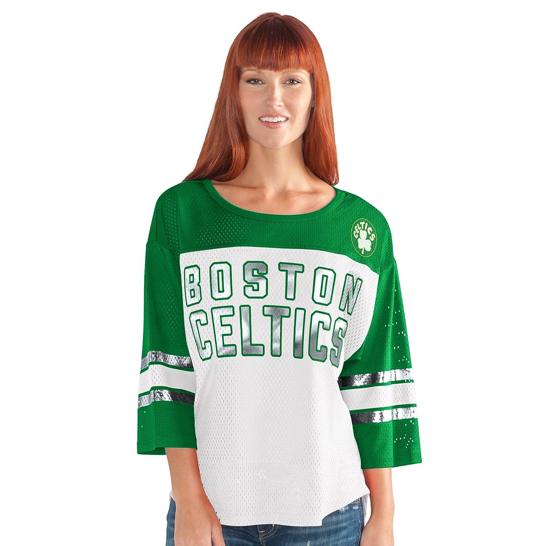 最初チームメッシュトップ B0743MY4M6 3L|ホワイト/グリーン|Boston Celtics ホワイト/グリーン 3L