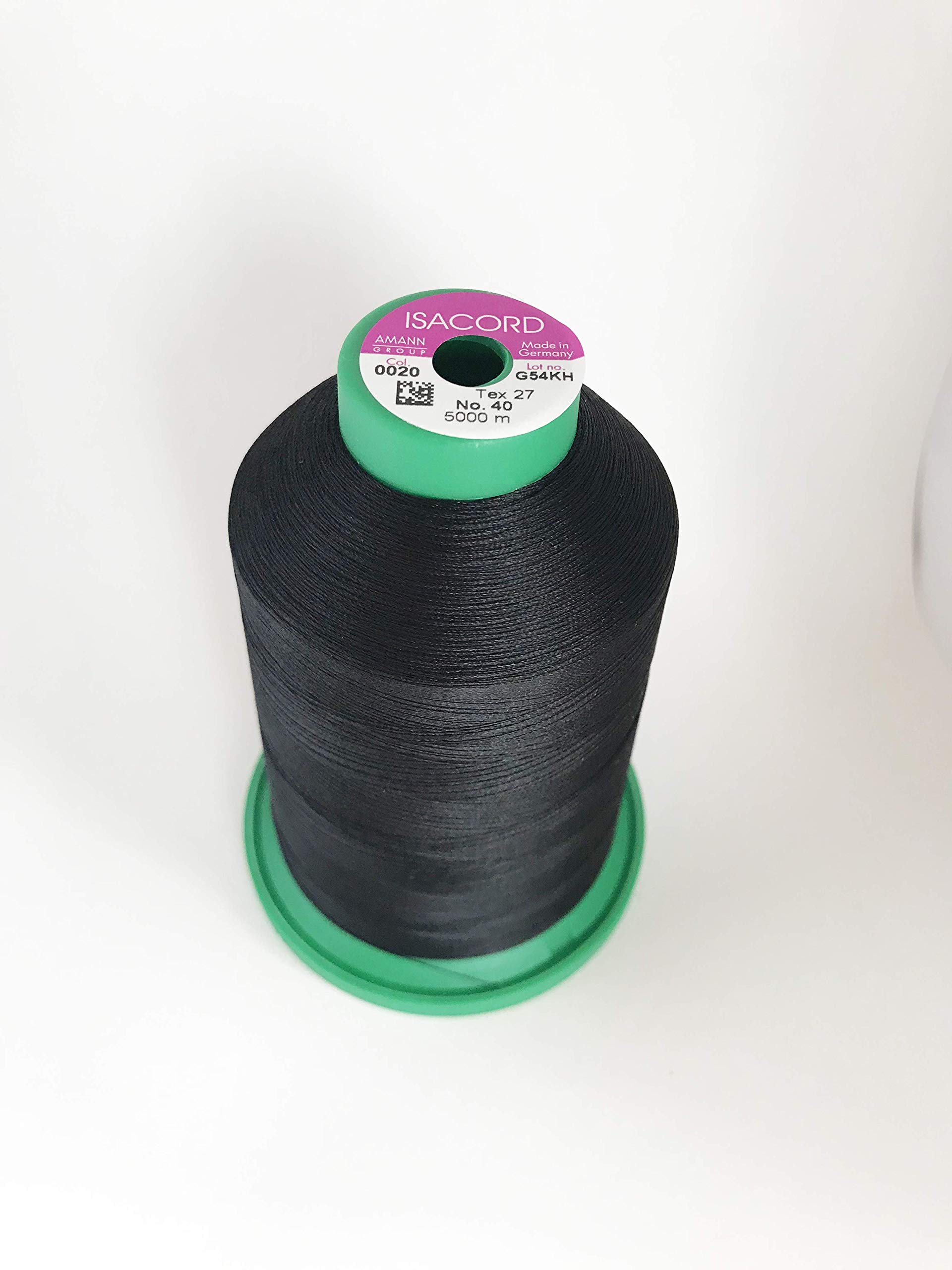 Black Thread 5000M color 0020 Isacord Embroidery Thread