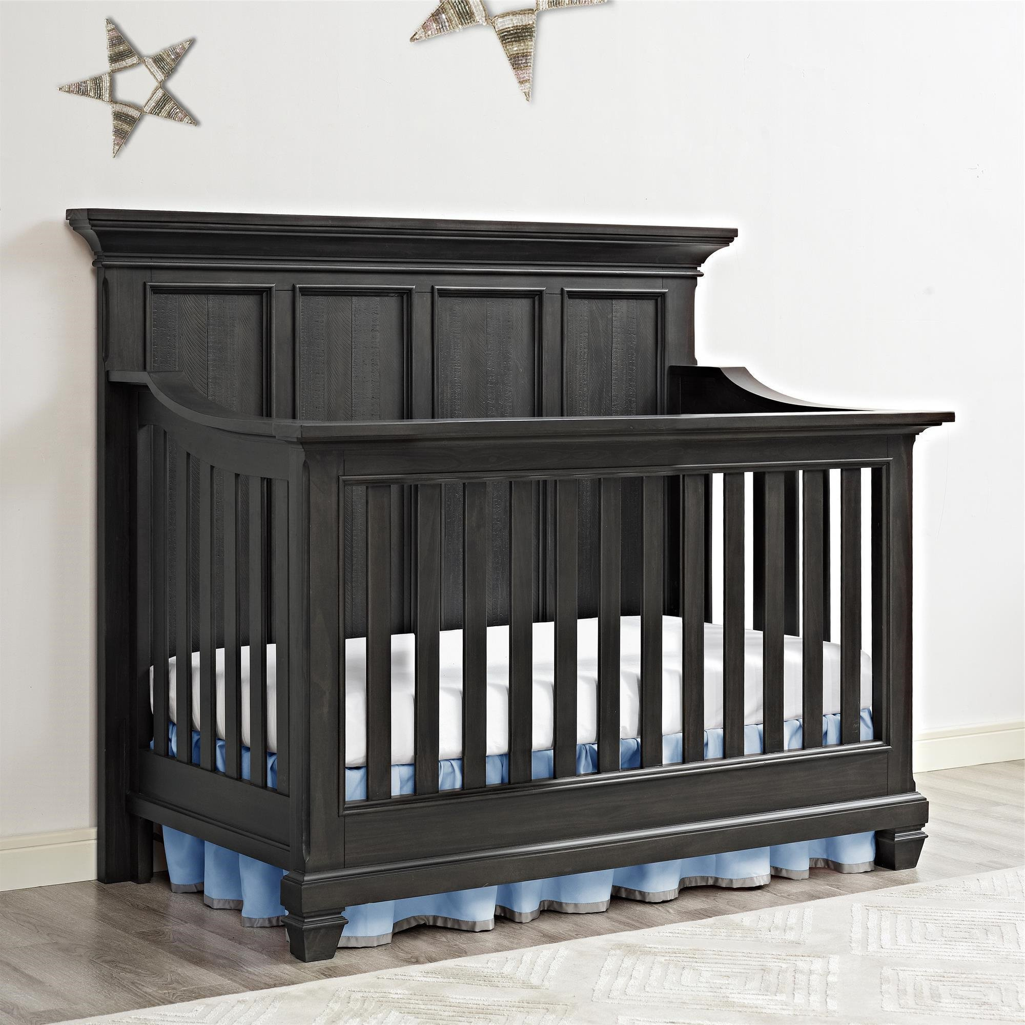 Full Size Conversion Kit Bed Rails for Bertini Baby Cribs (Weathered Charcoal) by CC KITS (Image #4)