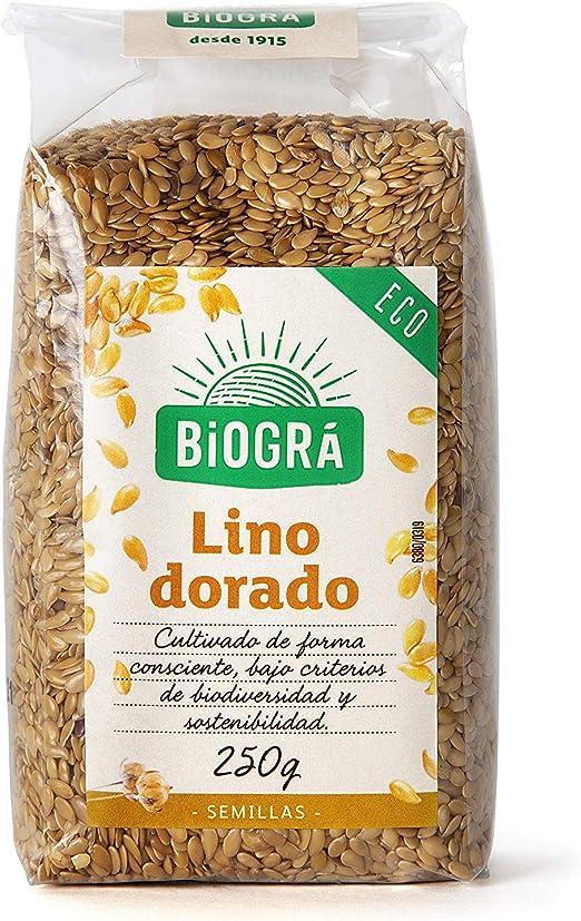 Biográ - Semillas Ecológicas de Lino Dorado (250 g): Amazon.es ...