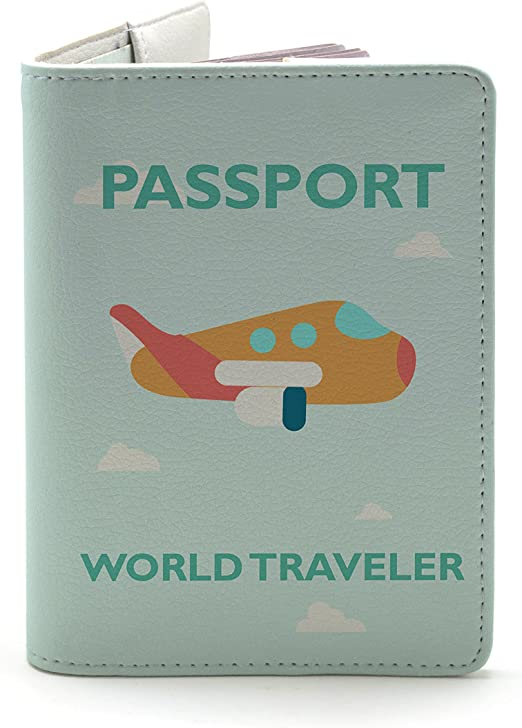 Boys Passport Cover Set Of Beautiful Orange Fish Stylish Pu Leather Travel Accessories Personalized Leather Passport Holder Cover For Women Men