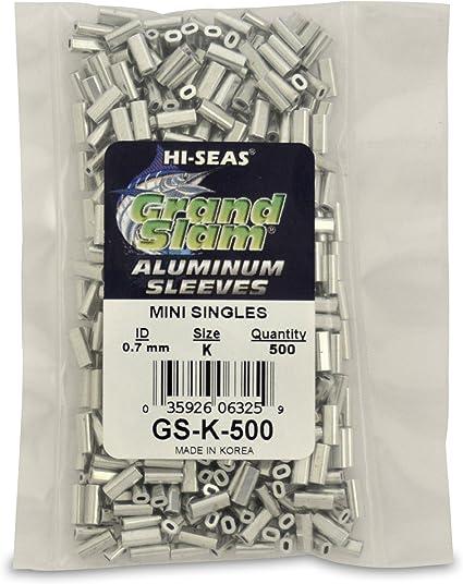 1.7 Aluminum Single Sleeve100 pcs 19 mm long