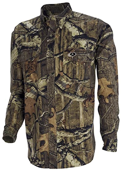 400cfa7037aa0 Amazon.com : Russell Outdoors Men's Explorer Long Sleeve Shirt : Camouflage Hunting  Apparel : Clothing