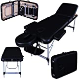 Massage Imperial® Richmond/Mayfair Lettino Professionale Per Massaggio, Portatile, In Alluminio, Schiuma ad Alta Densità 5 cm, Colore: Nero